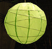 MARU Paper Lantern In Lime Green