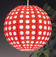 Dotted Paper Lantern In Red