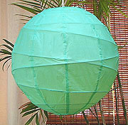 MARU Paper Lantern In Jade Green