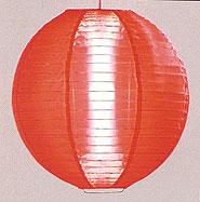 Even Ribbing Nylon Lantern In Red