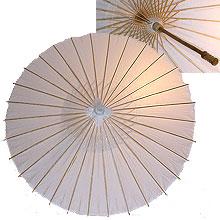 32in Paper Umbrella in WHITE