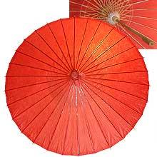 32in Paper Umbrella in RED