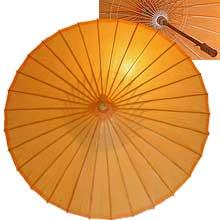 32in Paper Umbrella in ORANGE