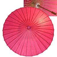 32in Paper Umbrella in ROSE PINK
