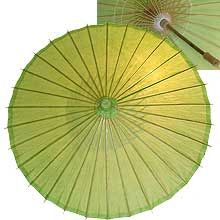32in Paper Umbrella in LIME GREEN