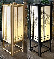 23in Bamboo Off-Set Shoji Lamp