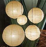 10PC Value-Pack MARU Paper Lantern In Natural