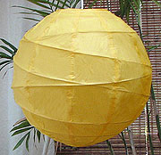 10PC Value-Pack MARU Paper Lantern In Golden Yellow