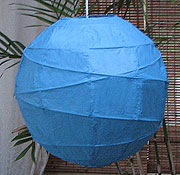 10PC Value-Pack MARU Paper Lantern In Blue