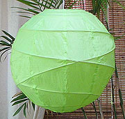 10PC Value-Pack MARU Paper Lantern In Lime Green