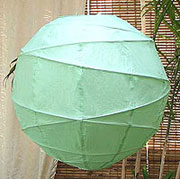 10PC Value-Pack MARU Paper Lantern In Aqua Green